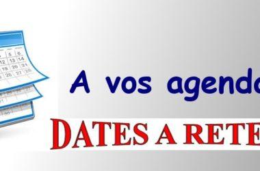 Dates à retenir