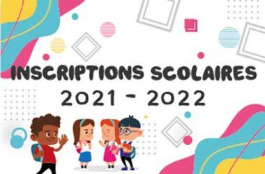 Inscriptions rentrée de septembre 2021